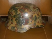 4 немецких шлема солдат Вермахта.